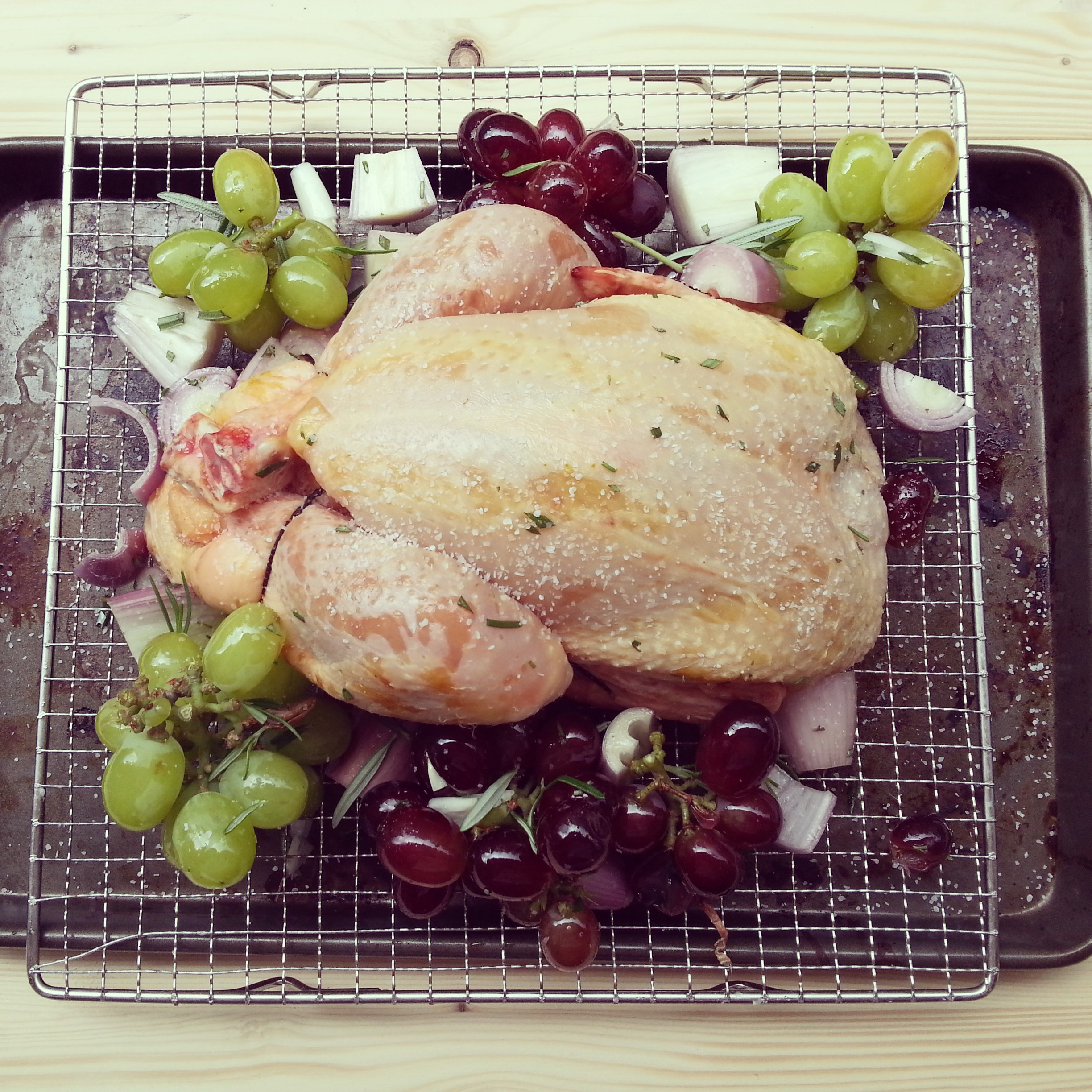 Roasted Chicken with Caramelized Grapes & Shallots | The Primitive ...