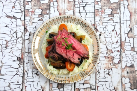 Proper Roast Beef with Cauliflower Mash