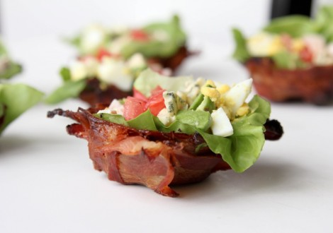 Cobb Salad in Bacon Bowls