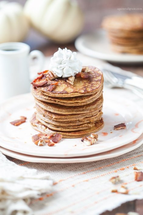 Pumpkin Pancakes with Bacon