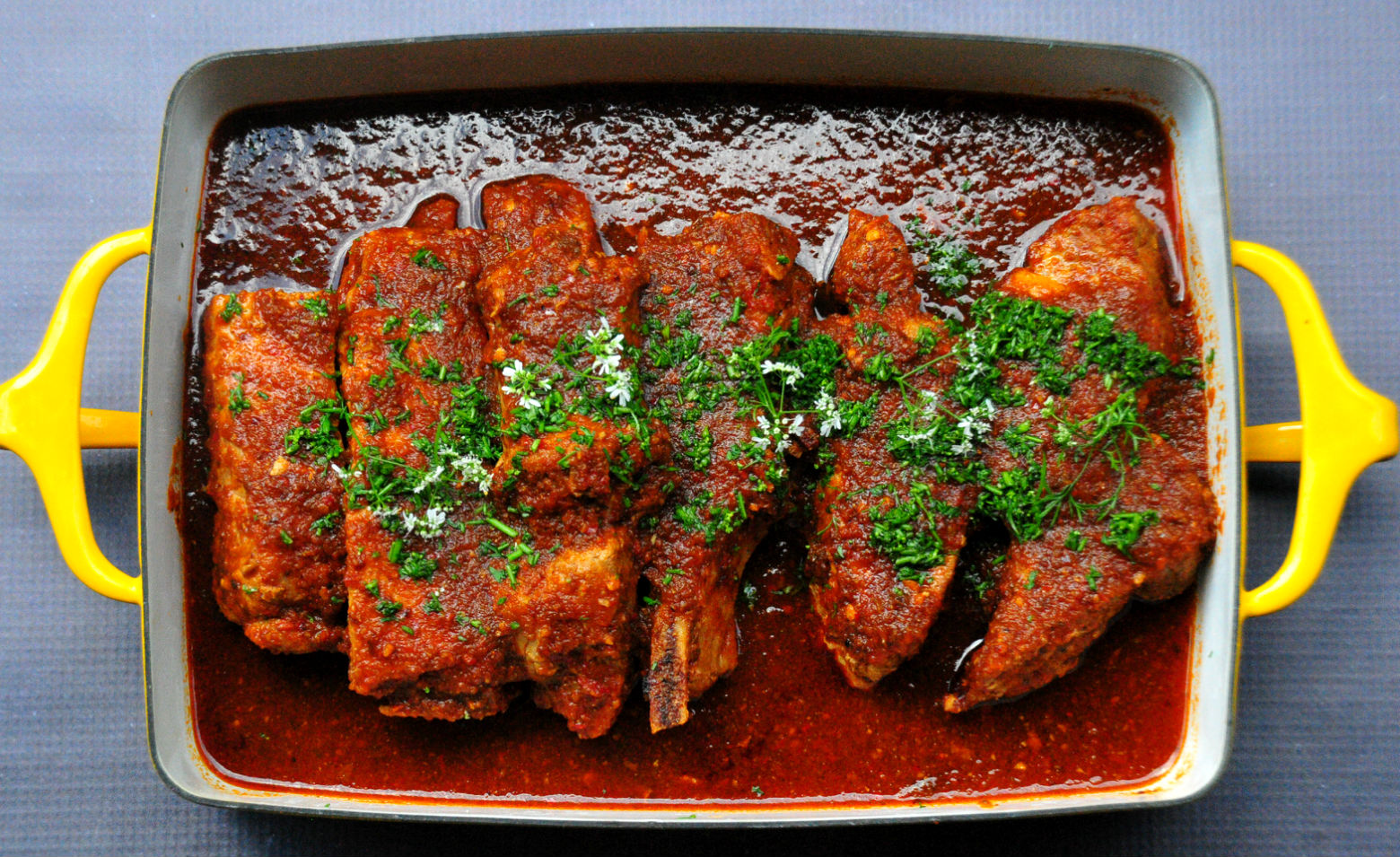 Ancho Chile Braised Pork Ribs | The Primitive Palate