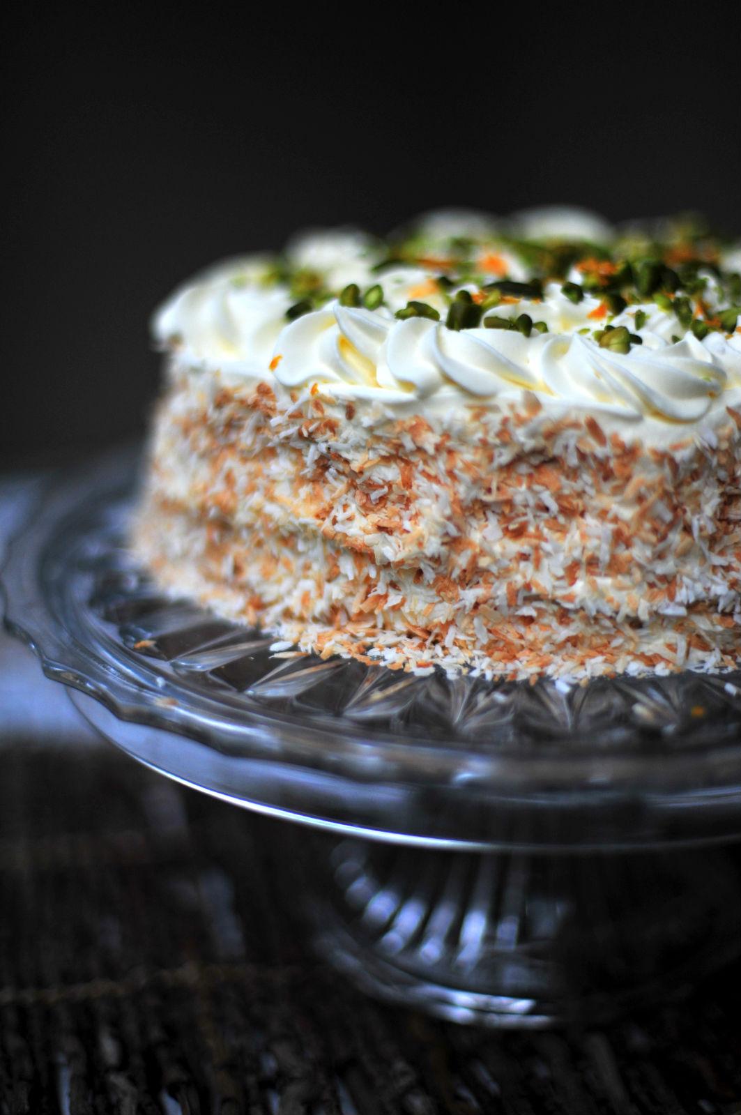 Pistachio Amp Coconut Crepe Cake The Primitive Palate