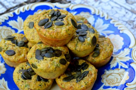 Top with raw pumpkin seeds and bake!