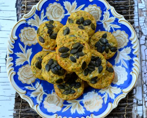 Nutty Egg Muffins--Low carb, gluten-free and high in fiber! Great for a keto diet!