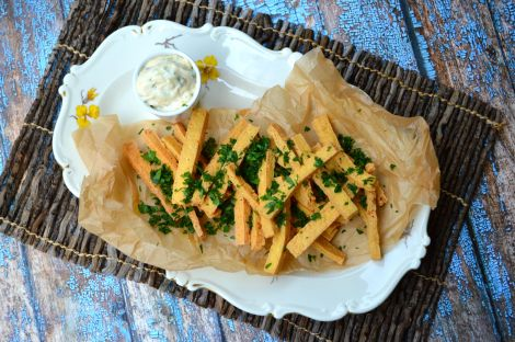 Low Carb French Fries. Made from tofu! Keto and vegan!