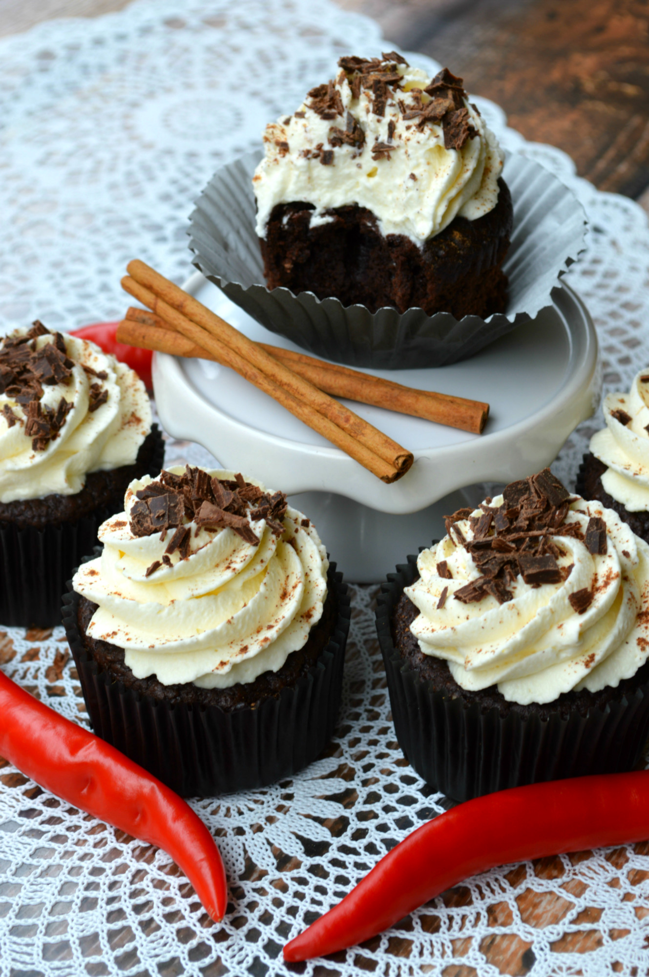 Mexican Hot Chocolate Cupcakes | The Primitive Palate