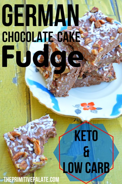 German Chocolate Cake Keto & Low-Carb Fudge (also a great fat bomb!)