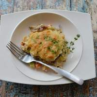 Keto Biscuit Chicken Pot Pie Casserole