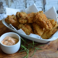 The BEST Keto Fried Chicken EVER.